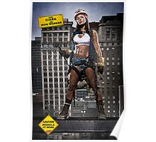 Caution: Models At Work - The Iron Worker Poster