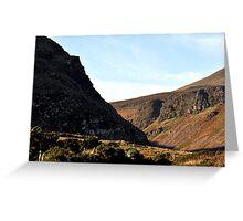 Interlocking Cliffs over Anascaul Lake, Co. Kerry Greeting Card