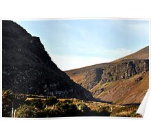 Interlocking Cliffs over Anascaul Lake, Co. Kerry Poster