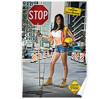 Caution: Models At Work - The Road Worker Poster