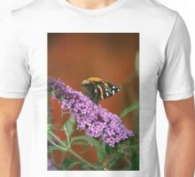 Red Admiral on Butterfly Bush Unisex T-Shirt