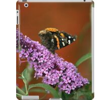 Red Admiral on Butterfly Bush iPad Case/Skin