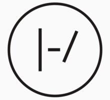 BLACK Minimalistic Twenty One Pilots Logo by bandsandcrap