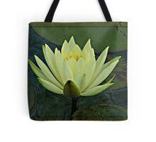 Lemon Water Lily in Low Light Tote Bag