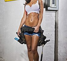 Caution: Models At Work - The Electrician by Jeff Zoet