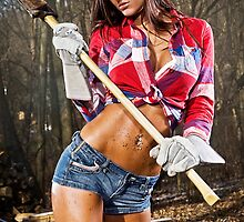 Caution: Models At Work - The Lumberjack by Jeff Zoet