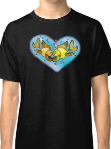 Big Love cute Fish hug in Blue Hart, Classic T-Shirt