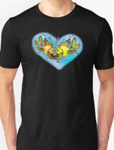 Big Love cute Fish hug in Blue Hart, Unisex T-Shirt
