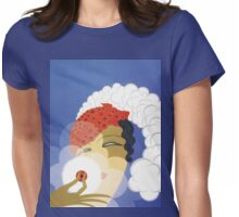 Whimsical French Art Deco cosmetics fashion art Womens Fitted T-Shirt