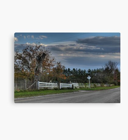 White Fence Canvas Print