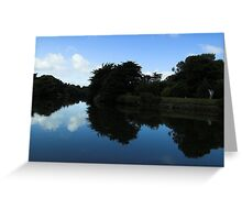 Mirror Image - Sulby River Greeting Card