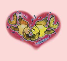 Big Love cute Fish hug in Red Hart Baby Tee