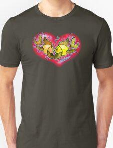 Big Love cute Fish hug in Red Hart Unisex T-Shirt