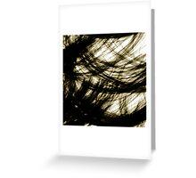 Light swirls between trees, #2 Greeting Card
