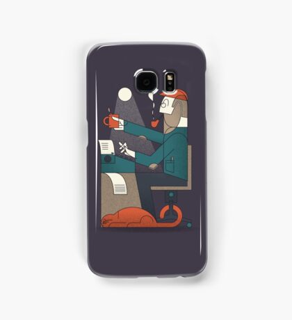 The Typing Man Samsung Galaxy Case/Skin