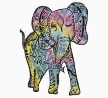 Tie-Dye Elephant by jessie9939