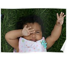 Lazy Hazy Summer Daisy Poster