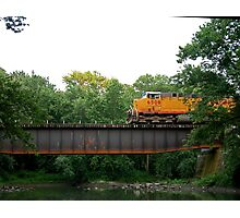 Old Railroad Bridge Over Sugar Creek Photographic Print