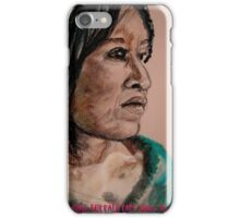 White Buffalo Calf Woman: Ptesan­Win iPhone Case/Skin