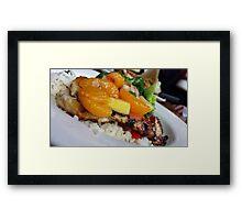 Chicken Dinner Framed Print