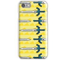 Zelda Inspired Mater Sword with Triforce Pattern iPhone Case/Skin