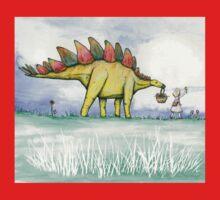Stegosaurus Flowers Baby Tee