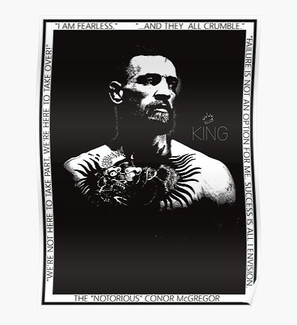 "Conor McGregor ""King"" Version 2 Poster"