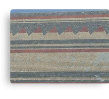 Slate stripes and points Canvas Print