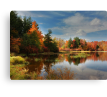 Autumn Reflections ~ Lake Jean Canvas Print