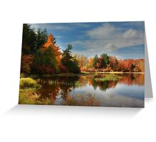 Autumn Reflections ~ Lake Jean Greeting Card