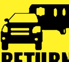 NO RETURN  Sticker