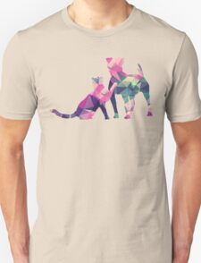 Moggy and Pooch #1. Pink&Green. Take your best friend everywhere. Unisex T-Shirt