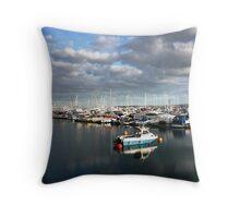 Torquay harbour Throw Pillow
