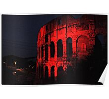 ROME - Colosseum in red - October 10th 2010 - # 1 Poster