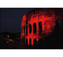 ROME - Colosseum in red - October 10th 2010 - # 1 Photographic Print