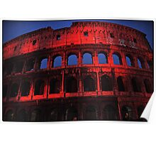 ROME - Colosseum in red - October 10th 2010 - # 2 Poster