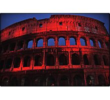 ROME - Colosseum in red - October 10th 2010 - # 2 Photographic Print