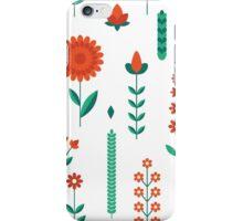 Geometric red tulips iPhone Case/Skin