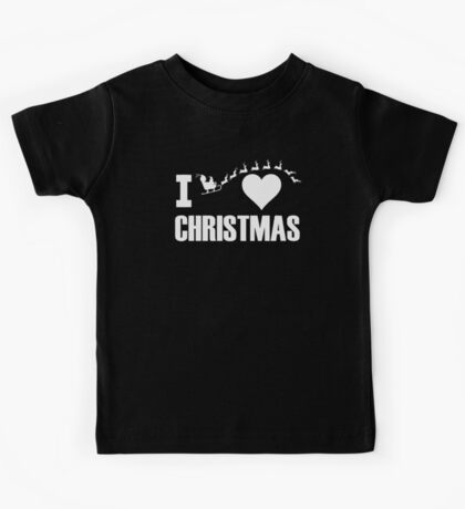 I Love Christmas Kids Tee