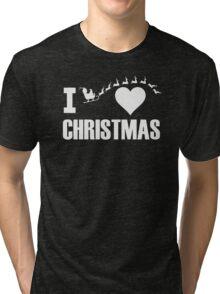 I Love Christmas Tri-blend T-Shirt