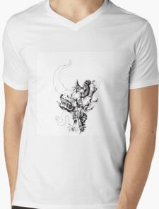 Demon Hunter Band Logo Mens V-Neck T-Shirt