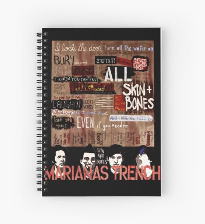 Marianas Trench Skin and Bones Spiral Notebook