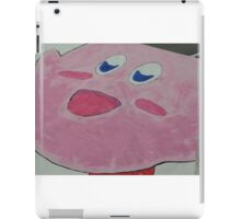 Kirby without eyes colored in iPad Case/Skin