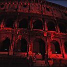 ROME - Colosseum in red - October 10th 2010 - # 3 by Daniela Cifarelli