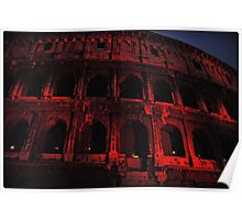 ROME - Colosseum in red - October 10th 2010 - # 3 Poster