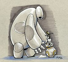 Baymax, Baby Groot, and BB-8 by Marc Lapierre
