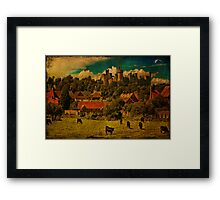 Arundel and Cows Framed Print