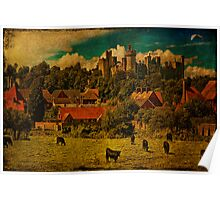 Arundel and Cows Poster