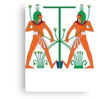 Hapy Tying Knot | Egyptian Gods, Goddesses, and Deities Canvas Print