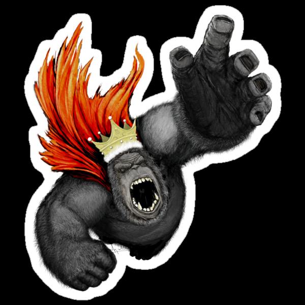 Gorilla King by kagcaoili